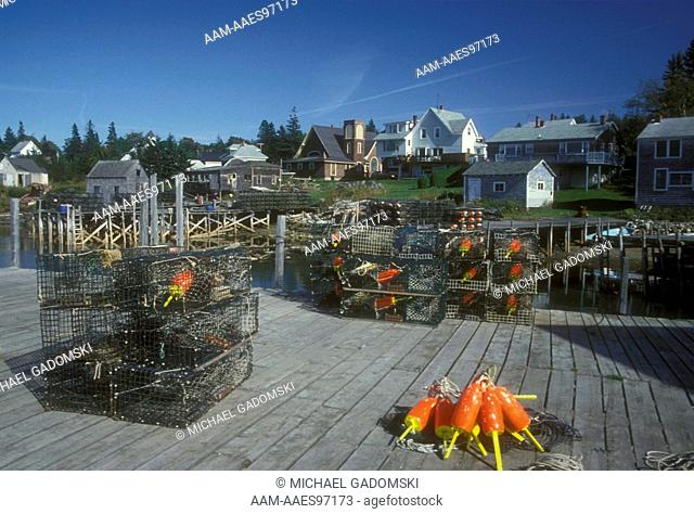 Wire Lobster Traps, Port Clyde ME
