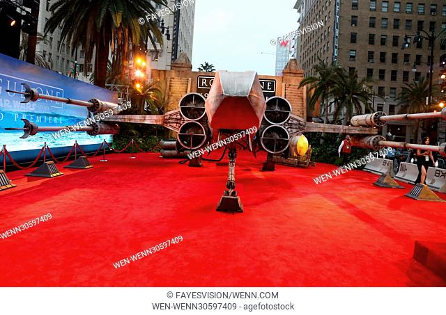 """Premiere Of Walt Disney Pictures And Lucasfilm's """"""""Rogue One: A Star Wars Story"""""""" Featuring: Atmosphere Where: Hollywood, California"""