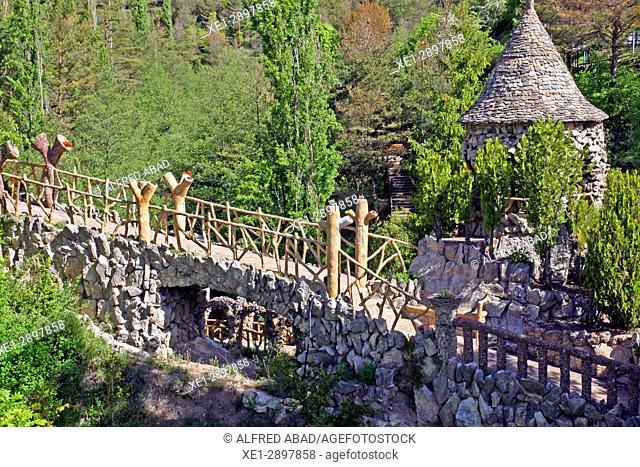 Jardins Artigas (Artigas Gardens), design by Antoni Gaudi, La Pobla de Lillet, Catalonia, Spain