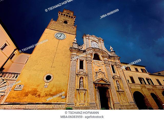 Italy, in the Old Town of Pitigliano, Duomo, cathedral Santi Pietro e Paolo, Tuscany