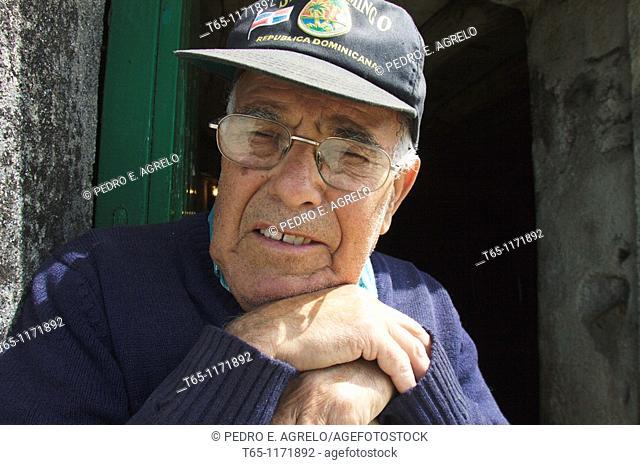 Portrat of man, rural Galicia, Northern Spain