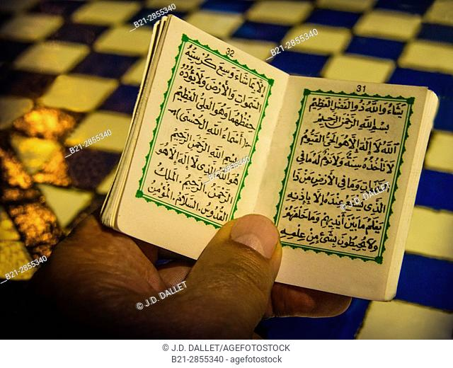 "Morocco, Fes, religious pocket book to protect against ""evil eye"",.."