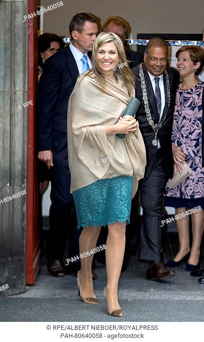 The Hague, 23-05-2016 HM Queen Máxima HM Queen Máxima attends the inaugural lecture of Professor Saradindu Bhaduri in the Kloosterkerk in The Hague Inaugural...