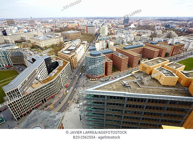Potsdamer Platz, Aerial view, Berlin, Germany