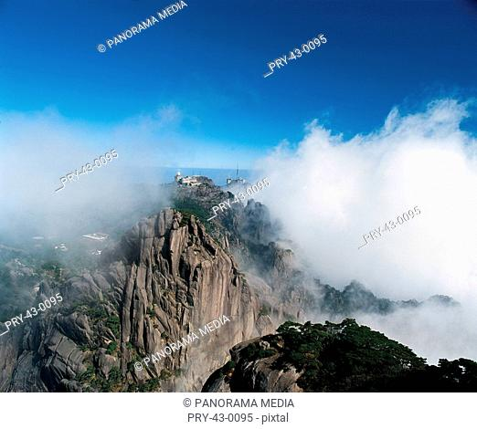 Mount Huang in Anhui Province,clouds sea,China
