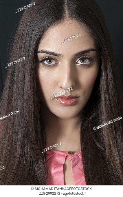 Portrait of a beautiful Indian woman staring