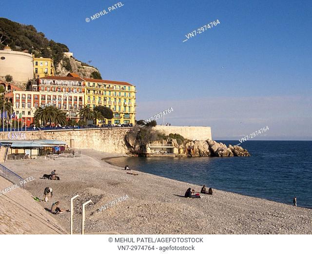Beachfront by Quai des États-Unis and Quai Rauba Capeu, Nice, France