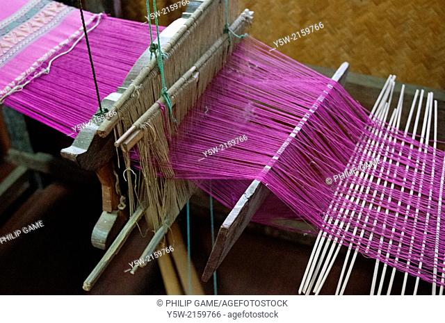 A weaver's loom displayed at the Sergeant Major Thawee folk museum, Phitsanulok, Thailand
