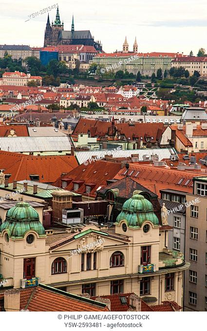 Views across Prague from the Stare Mesto Town Hall tower, Czech Republic