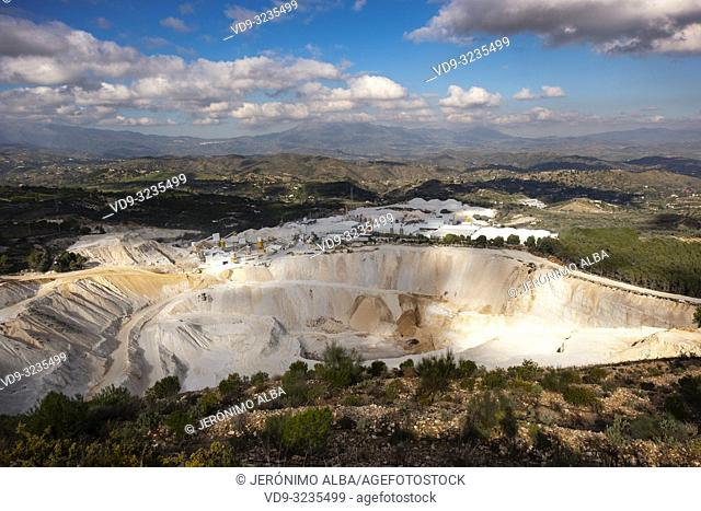 Aggregate quarry, Coin. Valle del Guadalhorce. Malaga province, Andalusia. Spain Europe