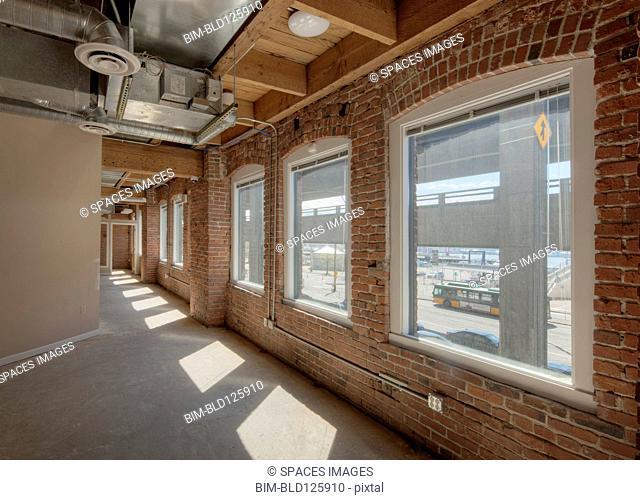 Empty corridor in office building