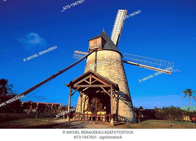 France, Antilles, Ile, Guadeloupe, Marie Galante, old windmill, le Moulin du Bezard