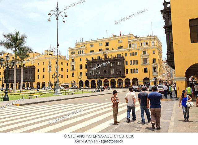 Municipalidad de Lima, City Hall, Plaza Mayor, Lima, Peru