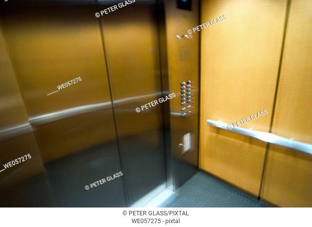 Inside of an elevator