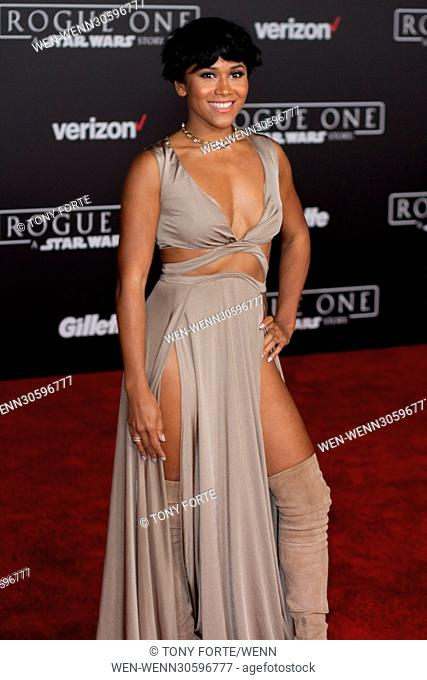 World premiere of 'Rogue One: A Star Wars Story' held at Pantages Theatre - Arrivals Featuring: Maya Washington Where: Los Angeles, California