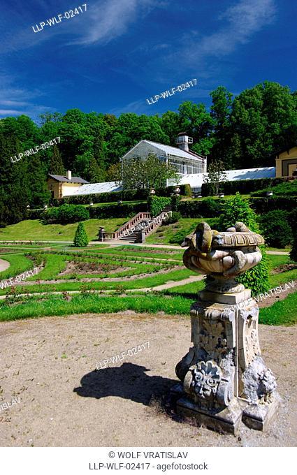 The Botanic Garden of Chateau Konopiste, the Central Bohemia, Czech Republic