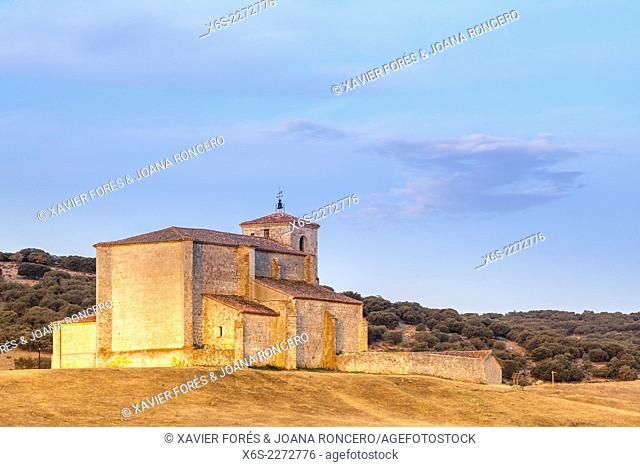 Church of San Martín in Atapuerca village in the Way of St. James, Burgos, Spain