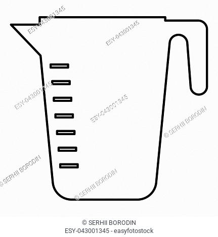 Measuring capacity cup icon black color vector illustration flat style outline