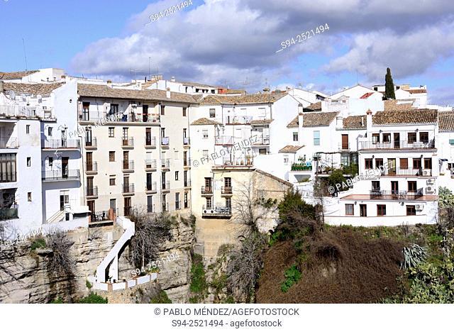 White houses of Ronda, Malaga, Andalusia, Spain