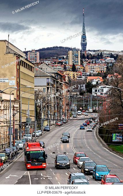 Television Tower, Prague's street, Bratislava - Slovakia
