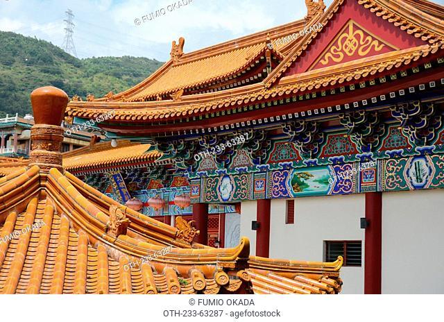 Main hall of Western Monastery, Lo Wai, Tsuen Wan, Hong Kong