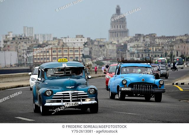 Old american car in Havana, Cuba