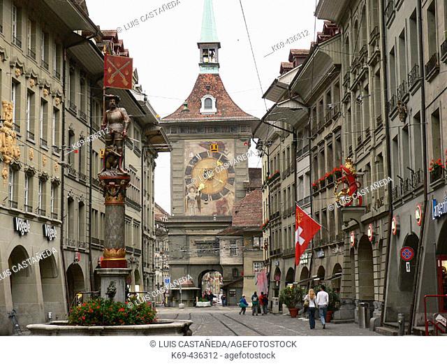 Musketeer Fountain (Schützenbrunnen). Bern. Switzerland