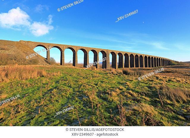 Ribblehead Viaduct, Yorkshire Dales National Park, England, UK,