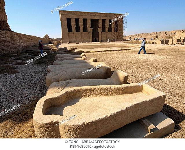 Dendera temple dedicated to Hathor goddess. Upper Egypt