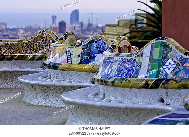 Ansichten aus Barcelona vom Park Guell