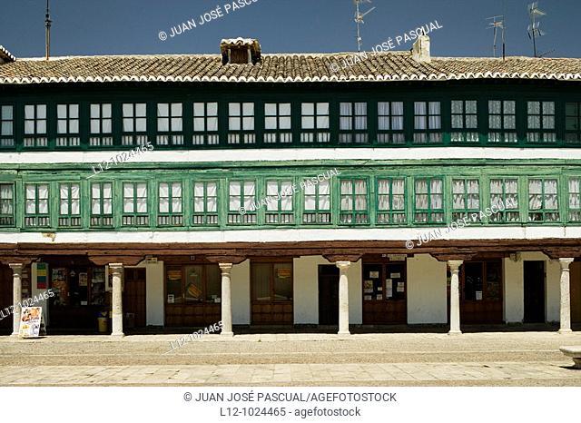 Plaza Mayor Main square, Almagro, Ciudad Real province, Castilla la Mancha, Spain