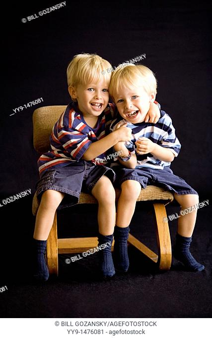 Portrait of Twin Boys - Fort Lauderdale, Florida USA