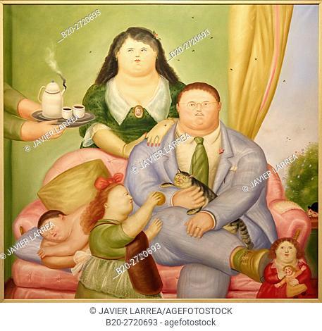 """""""La familia Colombiana"""", 1973, Fernando Botero, Museo de Antioquia, Medellin, Antioquia, Colombia"""