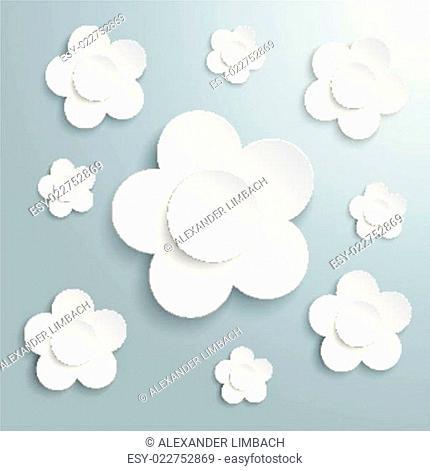 White Flowers Easter Card