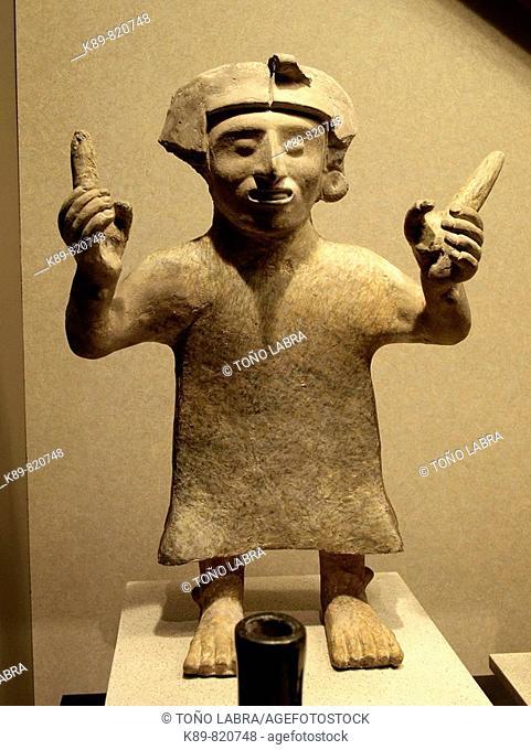 Aztec figure. Museo Nacional de Antropologia. Ciudad de Mexico