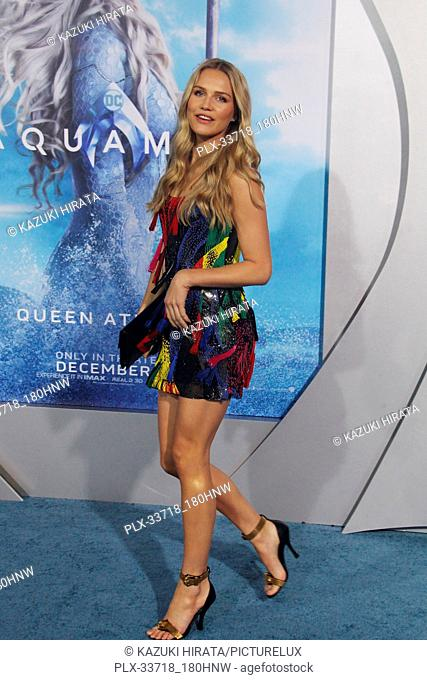 """Ida Lundgren 12/12/2018 """"""""Aquaman"""""""" Premiere held at the TCL Chinese Theatre in Hollywood, CA Photo by Kazuki Hirata / HNW / PictureLux"""