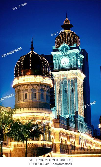 Sultan Abdul Samad building in Merdeka Square. Kuala Lumpur. Malaysia
