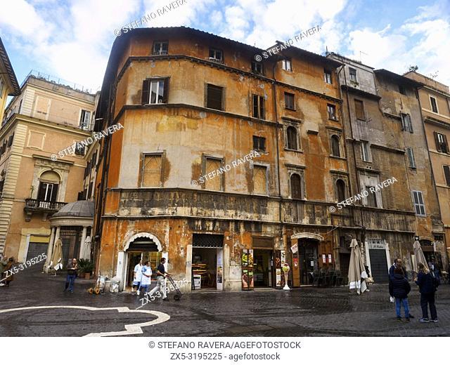Via del Portico d'Ottavia in the Ghetto - Rome, Italy