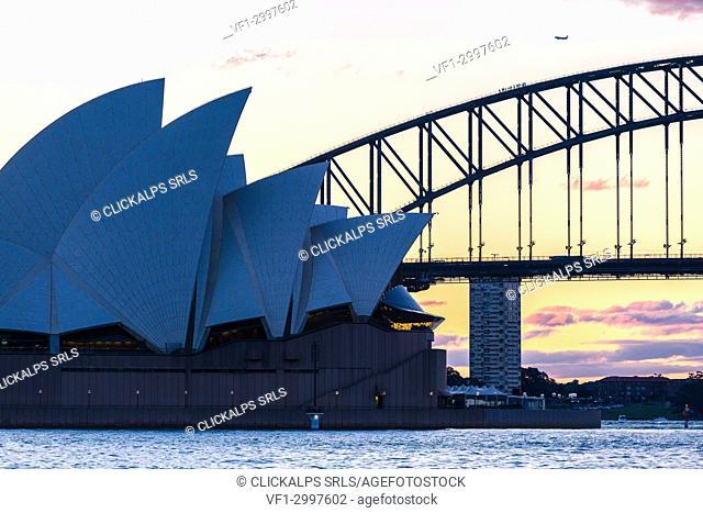 Opera House silhouette, Sydney, Australia
