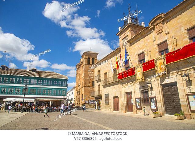 City hall. Plaza Mayor, Almagro, Ciudad Real province, Castilla La Mancha, Spain