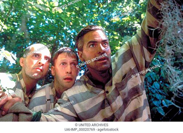 O Brother, Where Art Thou ?, (O BROTHER, WHERE ART THOU ?) USA 2000, Regie: Joel Coen, JOHN TURTURRO, TIM BLAKE NELSON, GEORGE CLOONEY, Key: Sträflinge