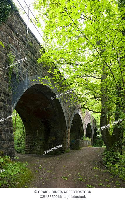 The railway viaduct in Leigh Woods near Bristol, North Somerset, England
