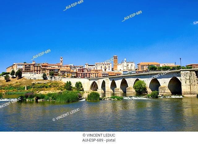 Spain - Castile and Leon - Province of Valladolid - Tordesillas - Medieval bridge