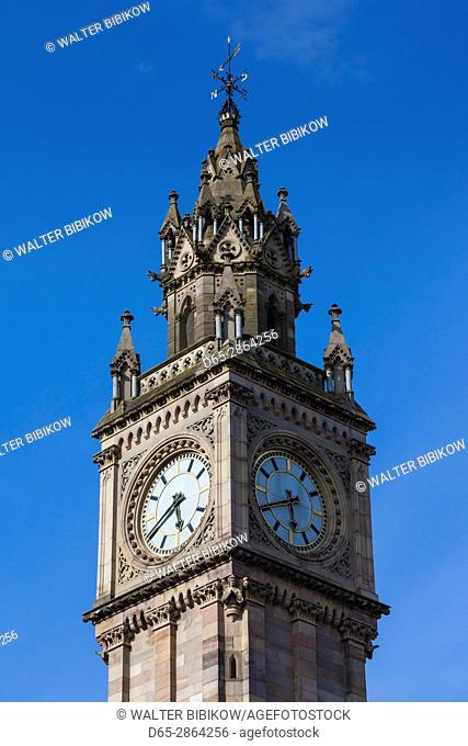 UK, Northern Ireland, Belfast, Albert Memorial Clock Tower