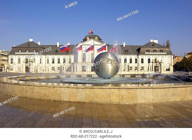 Palace of president, Bratislava, Slovakia, Grassalkovic Palais, Grasalkowicz-Palace