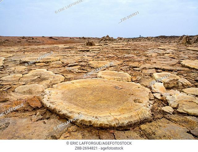 Ethiopia, Afar Region, Dallol, volcanic formations of dallol in the danakil depression