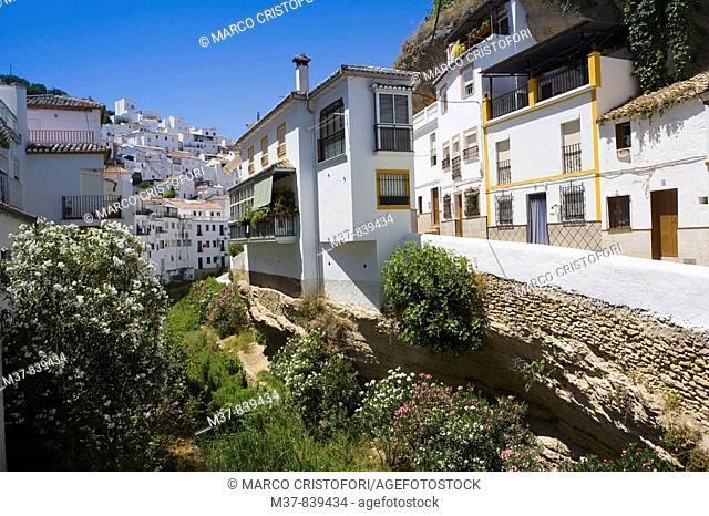 Setenil de las Bodegas, White Towns of Andalusia. Cadiz province, Andalucia, Spain