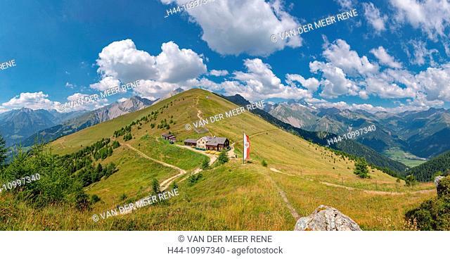 Matrei in Osttirol, Austria, Törlhaus, Rotenkogel mountain, Europa Panoramaweg, Grossglockner
