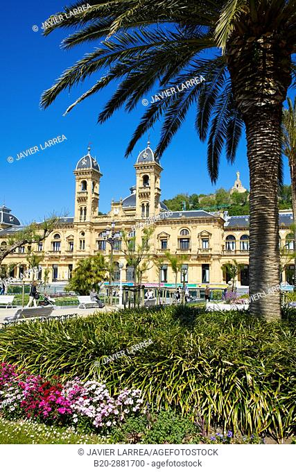 Town Hall, Alderdi Eder Park, Donostia, San Sebastian, Gipuzkoa, Basque Country, Spain