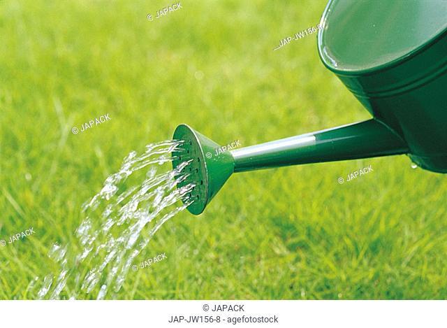 Watering in a garden
